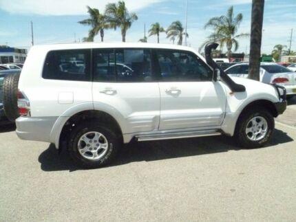 2001 Mitsubishi Pajero NM Exceed White 5 Speed Sports Automatic Wagon Heatherton Kingston Area Preview