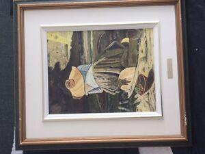 Paul Guigou d'apres Levesque de la Lavandiere, tableau 9x10