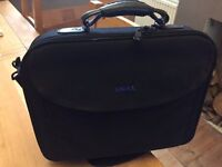 "Dell Black padded laptop bag for 15"" computer with handle and shoulder strap"