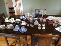 Collection of Vintage Glass, China and Crystal