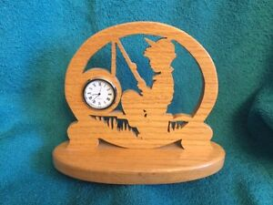 FISHERMAN CLOCK, BOY FISHING CLOCK Windsor Region Ontario image 1