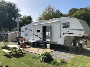 location roulotte camping Rouville saison 2019