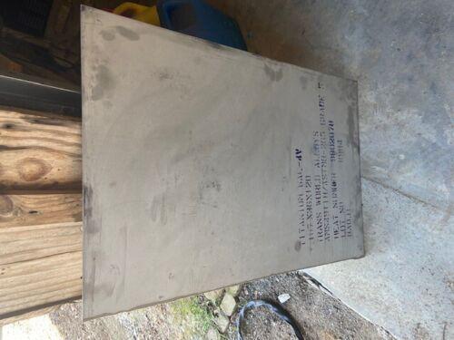 Titanium plate .187 (3/16)  thick sheet, 24 x 36in  6AL-4V grade 5