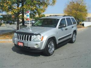 2005 Jeep Grand Cherokee LAREDO / LEATHER /ONLY 134,000 ORIG KMS