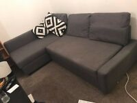 Sofa Bed - Ikea corner couch - FRIHETEN charcoal