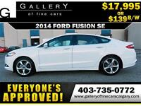 2014 Ford Fusion SE $139 bi-weekly APPLY NOW DRIVE NOW