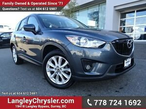 2013 Mazda CX-5 GT ACCIDENT FREE w/ AWD, LEATHER & NAVIGATION