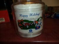 New Holland Tractor Christmas Cookie Jar