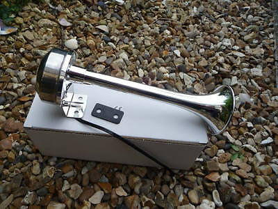 Marine horn,with.ABS  Chrome horn and stainless body & brkt. 22cm. 12 volt