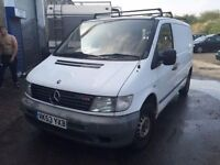 2003 Mercedes Vito diesel, starts and drives well, MOT until 17th November, van located in Gravesend