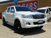 2011 Toyota Hilux KUN26R MY12 SR5 (4x4) White 5 Speed Manual Dual Cab Pick-up Belconnen Belconnen Area Preview
