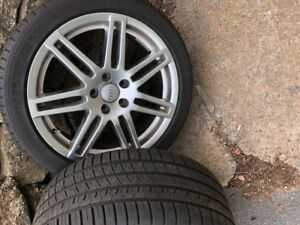 Set of Michelin Pilot Sport A/S3 tires and rims
