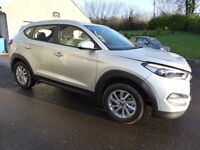Nov 2016 Hyundai Tucson 1.7 CRDI SE NAV BLUE only 604 miles - damaged repairable - 2 months old