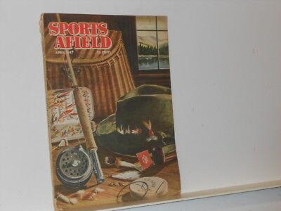 Vtg. 1947 April Sports Afield Cover by Artist Reno Biondi Magazine