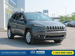2016 Jeep Cherokee Limited 4x4 GPS Pano Cuir Bluetooth UConnect