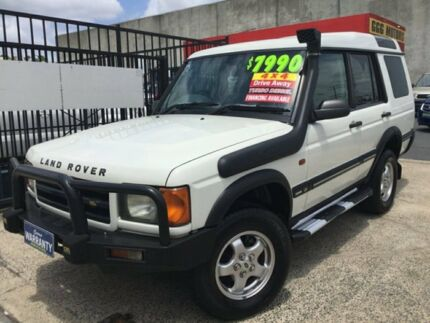 1999 Land Rover Discovery II TURBO DIESEL MANUAL 4X4 Td5 White 5 Speed Manual Wagon