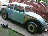 VW BEETLE 1962 BODYSHELL WITH DOORS, BONNET -£500, VERY RARE, CONTACT 07763119188