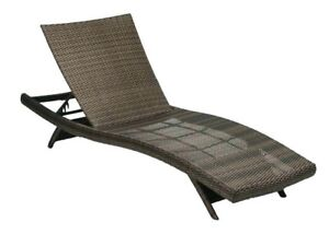 Hampton Bay Lounge Resin Wicker Outdoor Chair Chaise