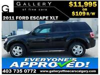 2011 Ford Escape XLT 4WD $109 bi-weekly APPLY NOW DRIVE NOW
