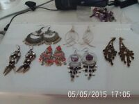 x6 Pairs of Costume Earrings - All Brand New