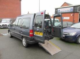 Fiat Scudo 7 seat wheelchair accessible vehicle, disabled access, mobility car