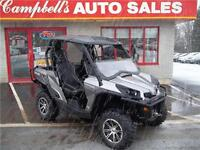2013 CAN-AM COMMANDER 1000 LIMITED EDITION WITH PLOW!!