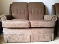 G Plan 2 seater and single sofas