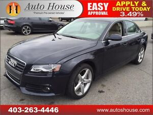 2012 AUDI A4 QUATTRO AWD 2.0 TURBO  6 SPEED 90 DAYS NO PAYMENTS