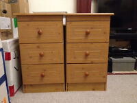 Wooden bedside table X 2
