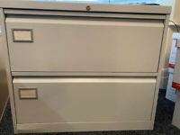 2 Drawer Wide Metal Filing Cabinet