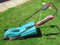 Bosch Rotak 32R rotary electric mower.