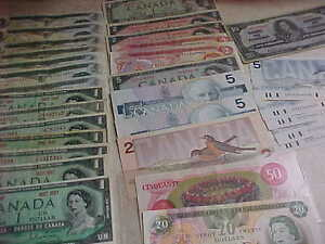 Canada Paper Money Lot 1937-1954-1967-1973-1974-1975-1979-1986