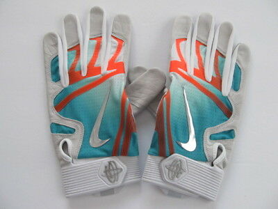 b1f7911039d8 Nike Huarache Elite Batting Gloves Turbo Green Total Orange Chrome XL   60.00 New