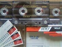 JL CHEAPEST ONLINE 3x TDK D 120 D120 CASSETTE TAPES 1990-1991 W/ CARDS CASES LABELS ALL VGC