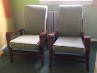 Genuine 1950's chairs- TAKEN SUBJECT TO COLLECTION