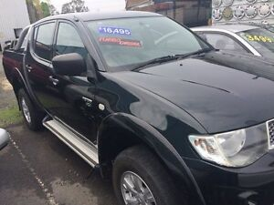 2010 Mitsubishi Triton MN MY10 GL-R Double Cab Black 5 Speed Manual Dual Cab Ashmore Gold Coast City Preview