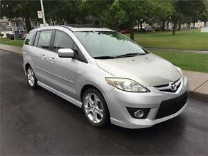 2009 MAZDA 5 , MANUEL  , 6 PASSAGERS ,  TOIT OUVRANT, 4 CYLINDRE