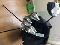 Wilson X-31 golf clubs and bag