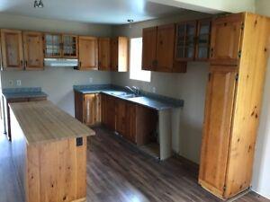 Armoire de cuisine en bois véritable
