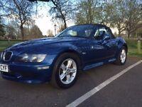 Blue BMW Z3 Convertible - 2002 - Next MOT in April 2017