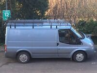 Ford Transit Roof Rack (SOLID WITH ROLLERS AND WALK PATH)