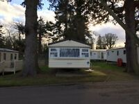 UNIQUE 4 BED 10 BERTH CARAVAN AT HAGGERSTON CASTLE