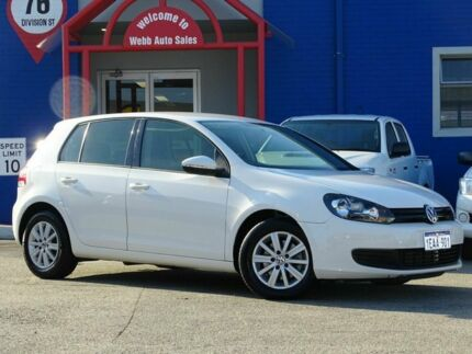 2012 Volkswagen Golf VI MY12.5 90TSI DSG Trendline White 7 Speed Sports Automatic Dual Clutch