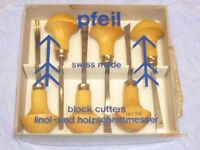 PFEIL Block Cutters for Linoleum and Wood Carving