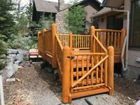 Log Railing and Repair