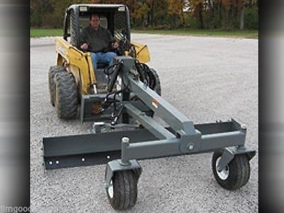 Skid Steer Grader Blade Attachment 8 Ft Wide Six Way Runs On Standard Flow