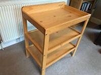 John Lewis Changing Table, Natural Wood