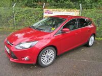 Ford Focus 1.6 Zetec Navigator TDCi 115 Turbo Diesel 5DR (red) 2014