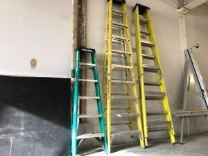 2 ESCABEAUX -  2 STEP LADDERS - 10 ft