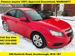 2014 Chevrolet Cruze 1LT FINANCE 100% GUARANTEED APPROVED